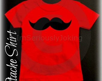 Mustache Childs TShirt-Little Man Party-Baby shower-baby shower gift-Mustache party-RED-baby boy-baby girl-Mustache clothes-mustache theme