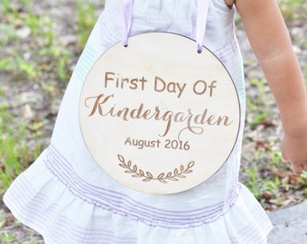 My first day of school children sign- back to school photo sign -children wooden sign -children photo prop