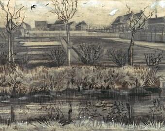 Van Gogh Reproduction.  Nursery on Schenkweg, 1882  by Vincent van Gogh. Fine Art Print.