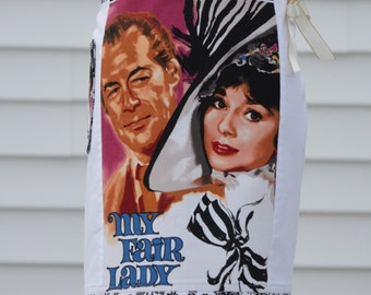 Classic Movie Apron, Cooking Apron, Cute Apron, Ready to ship