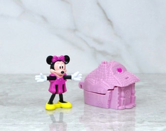 Vintage Blockbuster Exclusive Walt Disney Minni Mouse And Pink Castle toy 1996, Walt Disney World, Blockbuster Video, Disneyland, Minnie