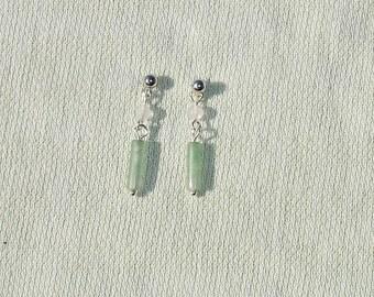 Gemstone Drop Post Earrings - Handmade Jewelry
