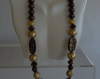 BROWN and GOLD Beaded 2-Piece SET