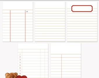 Printable Journaling Cards Ledger Set 3 Sand for Scrapbook and Project Life INSTANT DOWNLOAD