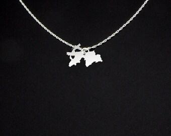 Tajikistan Necklace - Tajikistan Jewelry - Tajikistan Gift