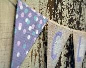 Custom Burlap Name Banner / Nursery Decor