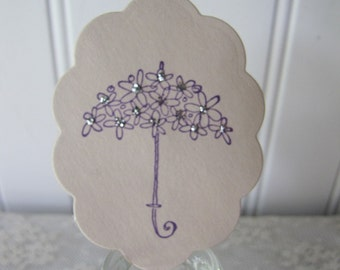12 Umbrella Lavender Glitter Cupcake Toppers Baby Shower Bridal Shower Party Supplies
