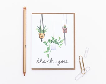 Thank You Card - Hanging Plants