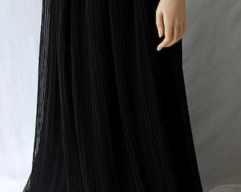Rob Hill Mr. Jay Chiffon Skirt Black Evening Gown Wedding Black Tie Event
