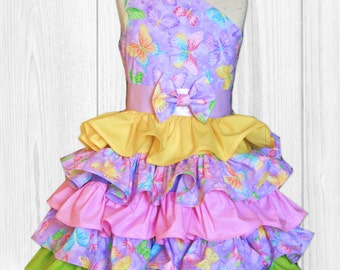 Purple Birthday Dress - Girls Birthday Dress - Pink Birthday Dress - Girls Birthday Outfit - First Birthday Dress - Ruffle Party Dress
