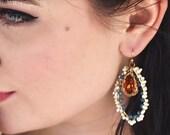 Crystal Wedding Drop Earrings - Vintage Inspired Dangle Earrings - Handcrafted Bridal Jewelry Bridal earrings , something blue , Dangles