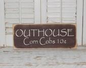 Bathroom Sign Outhouse Bathroom Decor Country Home Decor Sign Ready To Ship