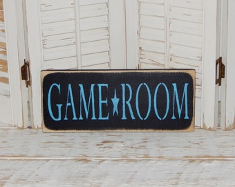 Game Room Sign Country Rustic Decor Signs