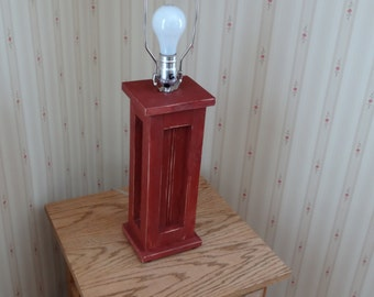 Country Primitive Lamp