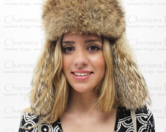 Canadian Coyote Fur Hat
