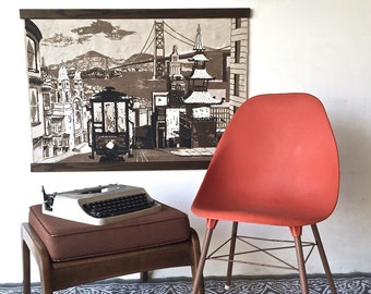 Mid-Century Wall Tapestry Wall Hanging | San Francisco | R.Bushong for Tom Tru Corp