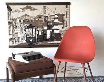 San Francisco Mid-Century Wall Tapestry Wall Hanging | R.Bushong for Tom Tru Corp