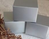 20 Silver Gift Boxes 3x3x2 box