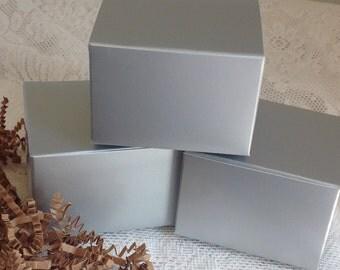 30 Silver Gift Boxes 3x3x2 box