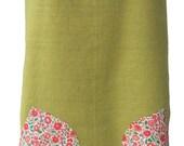 Pinafore Apron Linen and Liberty Tana Lawn