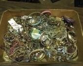 Large Lot of Jewelry Destash Religious Pins Chains Pendants Crafts Necklaces Bracelets Repair Parts 5.8 Ibs