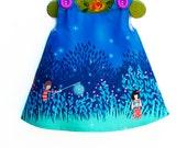 Summer Night Lights - Girls Dress - Gift - Beach Dress - FireFliers Dress - Photo Shot - Toddler Clothing - Newborn - 3M to 2T