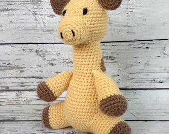 Minnie the Giraffe, Crochet Giraffe Stuffed Animal, Giraffe Amigurumi, Plush Animal, MADE TO ORDER
