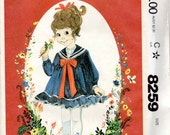 "1980s Toddler Girls' Ruffly, Sailor Dress Pattern- Size 1, 2, 3 Breast 20"", 21"", 22"" - McCall's 8259 uncut, Little Darlings"