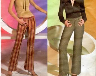 Easy Women's Hip-Hugger or Low-Rise Pants Pattern- Size 12, 14, 16 - Vogue V2812 uncut