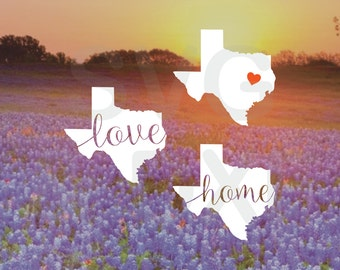 SVG & DXF Files - Texas Silhouette, Texas Cutting Files, Texas svg, Texas dxf, Cutting Files, Texas home svg, - NOT for Cricut