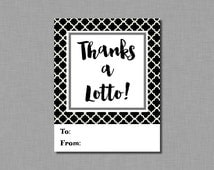 Won the Lotto Teacher Appreciation Gift Tags Instant Download pdf