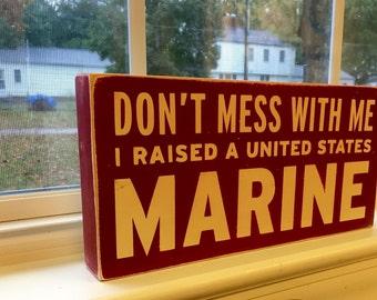 6x12 Marine Mom sign