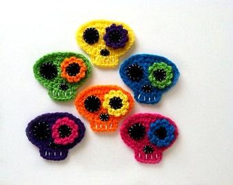"""1pc 4"""" Crochet SUGAR SKELLY Applique"""