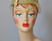 Sage Green Hat / Vtg 40s ...