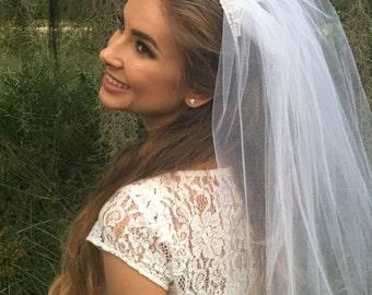 Tiara Veil - Tiara Bachelorette Veil - Bachelorette Veil - Bachelorette Party - Bride Gift - Silver Tiara Veil - Gold Tiara Veil