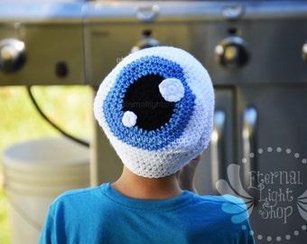 ALL SIZES/COLORS Halloween Eyeball Slouchy Beanie