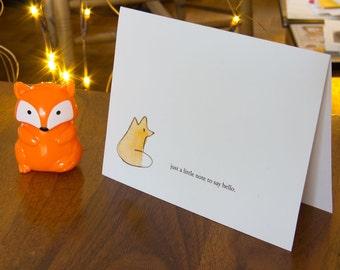 Say Hello with Tiny Fox [Card]