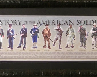History Of The American Soldier framed print