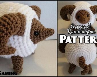 George S. Rammington the Fluffy Ram Crochet PATTERN