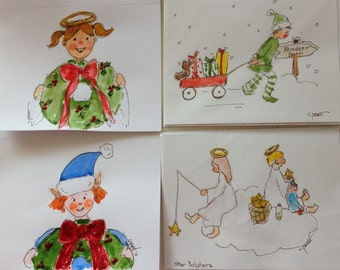 Christmas notecards, set of 12