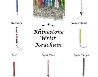 CRYSTAL Bling Rhinestone Wrist Lanyard Key Chain