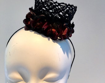 Evil Crown- Black Crown- Queen Crown- Birthday headband- Halloween Birthday- Halloween- Crown- Tiara- Zombie -Witch Crown- Day of the Dead