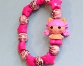 Kat Jungle Roar - Lalaloopsy Lion Girl Doll Stretch Bracelet with Animal Print Beads and Pink Stars
