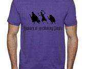 XL/X LARGE - Haunted Mansion - Beware of Hitchhiking Ghosts * Purple Rush Cotton Crew Neck Short Sleeve Shirt * Disneyland/Disney World