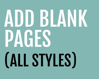 Add Additional Blank Pages to Any Memory Book