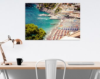 Aerial beach photography print