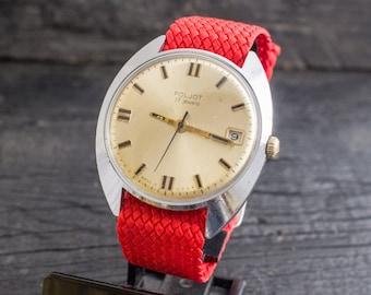 Vintage Poljot mens watch with date window, vintage russian watch, soviet mechanical watch, vintage mens watch, ussr cccp