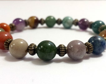 RAINBOW ROAD-  beaded bracelet