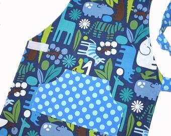 2D ZOO Montessori Toddler/Child Apron ready to ship