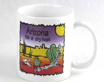 Retro Arizona It's A Dry Heat  Mug